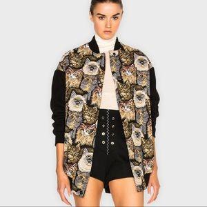 Stella McCartney Cat Woven Jacquard Bomber Jacket